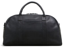 Kenneth Cole Colombian Leather Top Zip Duffel Bag Carry On Luggage - Black