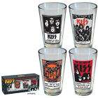NEW 4CT KISS POSTER PINT GLASS SET