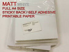 100 x A4 White [MATT]Self Adhesive Sticker Paper Sheet Address Label  1st class