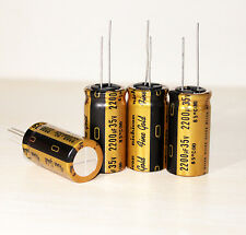 4PCS Japan Nichicon 2200uF/35V GOLD MUSE FW Audio Electrolytic Capacitor