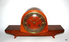 VINTAGE GERMAN 1950/60's JUBA SCHATZ TEAK WOOD SHELF MANTEL MANTLE CLOCK