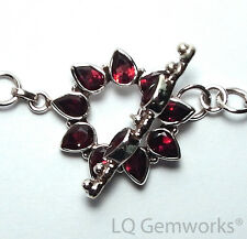 GARNET 925 Sterling Silver 27mm Stone Toggle Clasp /GF
