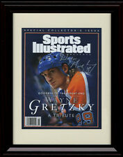 Framed Wayne Gretzky Sports Illustrated Autograph Print - The Great One!