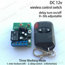 DC 12v Wireless Remote Control Receiver Switch Delay On off Adjustable timer