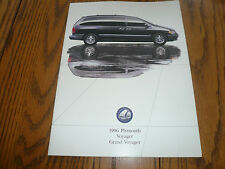 1996 Dodge Plymouth Voyage Grand Voyager Sales Brochure