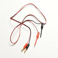 1 Pair Banana Plug To Test Hook Clip Probe Lead Cable For Multimeter New 2016