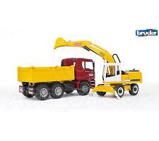 Bruder Giocattoli 02751 PRO MAN TGA Costruzione Camion con Escavatore Liebherr 1:16