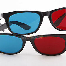 Fantastic Red Blue Cyan Plastic Framed Design Fabulous 3D Glasses Dimensional