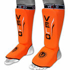 VELO Shin Instep Pads MMA Leg Foot Guards Muay Thai Protector Kick Boxing Guard