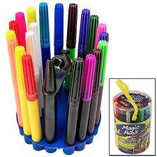 20 pieza increíble color cambiante Magic Plumas con plantillas y almacenamiento Stand