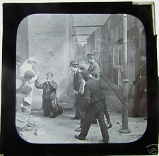 Glass Magic Lantern Slide MAN HUNT - VICTORIAN POLICEMAN   C1890