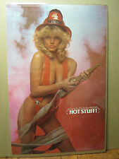 Hot Stuff firemen 1986 Hot girl ORIGINAL man cave car garage Poster 619