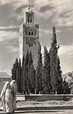 CASABLANCA LE MINARET DE LA KOUTOUBIA MAROC IMAGE 1956 OLD PRINT
