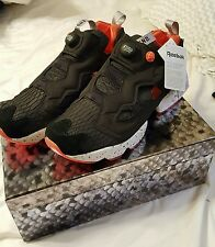 END. x Reebok Instapump Fury OG Black Salmon, Rosette, White BD3347 Sz 11.5 US
