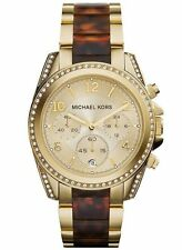 Michael Kors Women's Blair Tortoise and Rose Gold-Tone Bracelet Watch MK6094