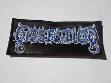 DISSECTION BLACK METAL EMBROIDERED PATCH