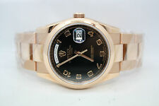 ROLEX DAY DATE PRESIDENT 36MM ROSE GOLD WATCH WITH OYSTER BRACELET REF 118205F