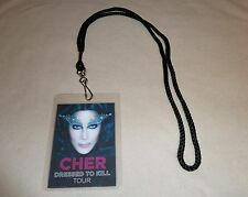 CHER DRESSED TO KILL TOUR VIP ALL ACCESS BACKSTAGE PASS & LANYARD MEET & GREET!