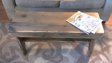 "36"" WEATHERED RUSTIC ALDER WOODEN BENCH HANDMADE FARMHOUSE DISTRESSED WOOD NEW"