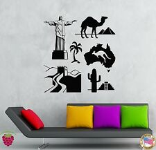 Wall Stickers Vinyl Decal Famous Places Travel Vacation Summer Tourism (z2083)
