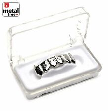 Vampire GRILLZ Plain Fangs White Gold Plated Bottom Teeth Fang Dracula S020 S