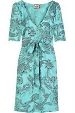 JUICY COUTURE $198 PAISLEY PRINT SILK DRESS SZ 0