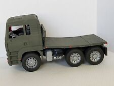 Bruder Flat Bed Truck Custom Painted Army Green