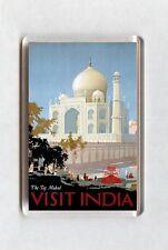 Vintage Travel Poster Fridge Magnet - The Taj Mahal. Visit India