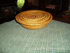 Vintage Chinese Nesting Bamboo Wicker Basket Tray set Of 4 VG !