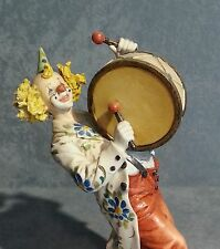 Porcellana di Capodimonte. Clown con Tamburo