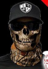 Salt Armour Forest Skull Camo Face Shield Sun Mask Balaclava Neck Gaiter Bandana