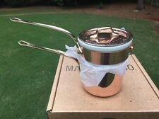 *New Mauviel 1830 M'tradition Copper Bain Marie Double Boiler .9 Quart Tin/Brass