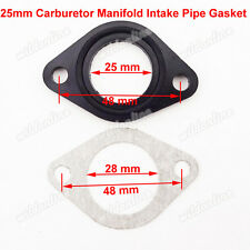25mm Carburetor Manifold Intake Pipe Gasket For Spacer Seal Pit Dirt Bike CRF50