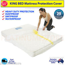 2 King Size Bed Mattress Protector Plastic Protection Cover Moving & Storage Bag