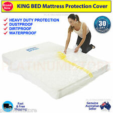 4 x King Bed Plastic Mattress Protector Moving & Storage Bag Dust Cover