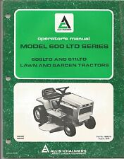 Allis Chalmers Models 608LTD & 611LTD Lawn & Garden Tractor Operator's Manual