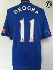 DROGBA #11 Chelsea FA Cup Final Home Football Shirt 2010 (L) 2009/10