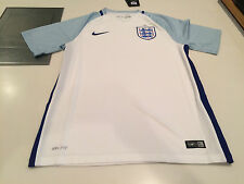 Team England 2016 Federation Soccer Jersey SS Men White Stadium Home Small Euro