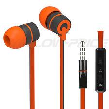2014 New Style Stereo 3.5mm Jack Earbuds Earphones w/ Mic ON/OFF Earphone Orange