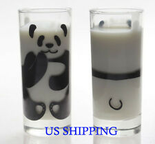 Stylish Transparent Panda milk Glass Milk Cup Anime Cute Best Gift for everyone!
