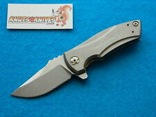 Zero Tolerance ZT 0900 Titanium Framelock Folding Knife! Les George Flipper!