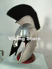 Spartan Greek Steel Troy Helmet w/ Black Plume Costume Armor