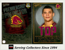 2011 NRL Strike Top Tryscorer TS1 Jharal Yow Yeh (Broncos) + Predictor Card