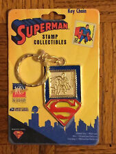 SUPERMAN Key Ring Stamp Collectibles Key Chain 1998 USPS DC Comics NEW MIP