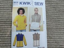 Kwik Sew 3813 Misses' polar fleece jacket vest sewing pattern size XS thru XL