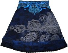 Beautiful Desigual Deliney BLUE Knee Length 60cm Skirt Size M