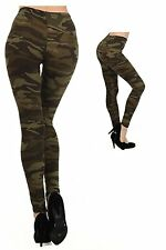 US Fashion Military Army Printed Leggings Camouflage Women Stretch Pants 1 Size