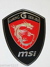 3D MSI Emblem Sticker Aufkleber Batch aus Aluminium Gaming G Series -Z87-G45 Neu