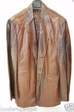 GORGEOUS !!! PAUL SMITH LEATHER CROCODILE PRINT FITTED MEN JACKET EU 50 US 40