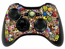 Sticker Bomb Xbox 360 Remote Controller/Gamepad Skin / Cover / Vinyl Wrap xbr3